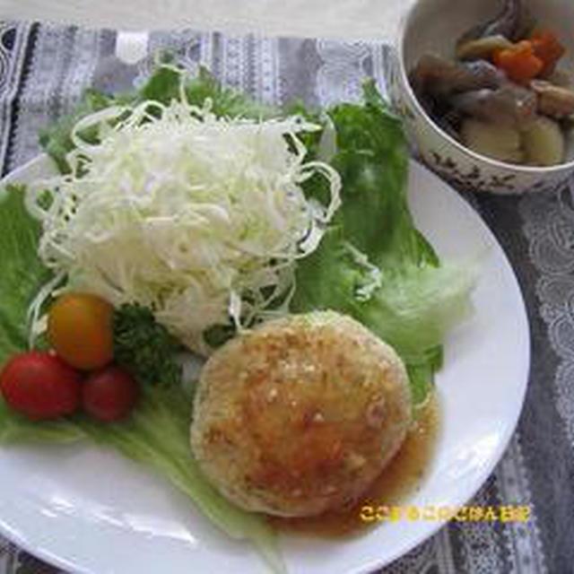 つくれぽ☆キャベツと豆腐のハンバーグ&椎茸なしの筑前煮^^