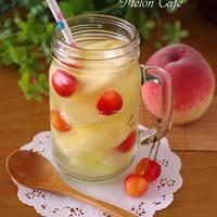食べる楽しみも♪とろんと贅沢フルーツビネガーウォーター☆「かんたん・鮮やか・おいしいフルーツビネガーウォーターコンテスト」レシピ