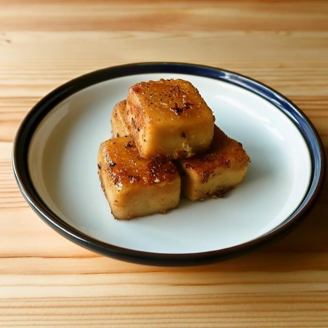 高野豆腐のガーリックコンソメマヨ炒め