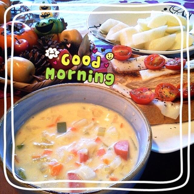 スープ朝食。