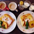 朝にぴったりふんわりフレンチトーストの秘訣と焼き林檎がソースだね♪☆♪☆♪ by みなづきさん