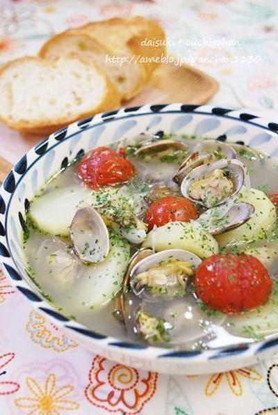 具だくさんボンゴレ風煮込みスープ
