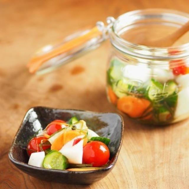 ル・パルフェで作る野菜のブランデー漬け