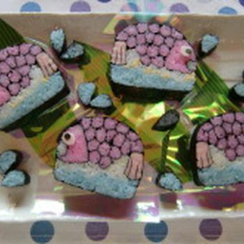 鯛の飾り巻き寿司・水しぶき付き!