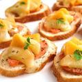 クミン香るコンテと柿のブルスケッタ