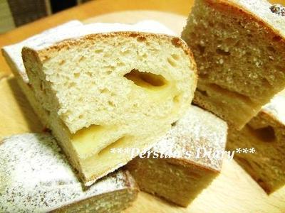 ルクエde全粒粉のチェダーチーズパン♪(カスピ海ヨーグルト入り)