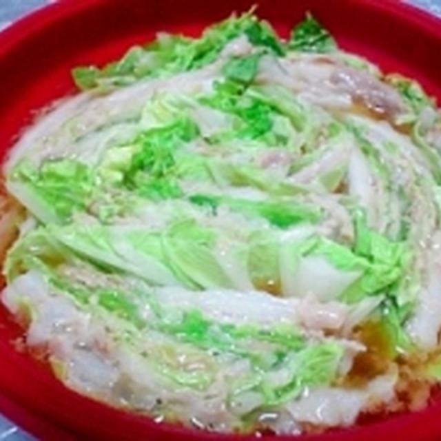 レンチンde豚ばら白菜蒸し