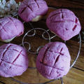 紫芋クッキーで☆簡単メロンパン