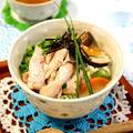 鶏スープがおいしい鶏雑炊☆野菜たっぷり