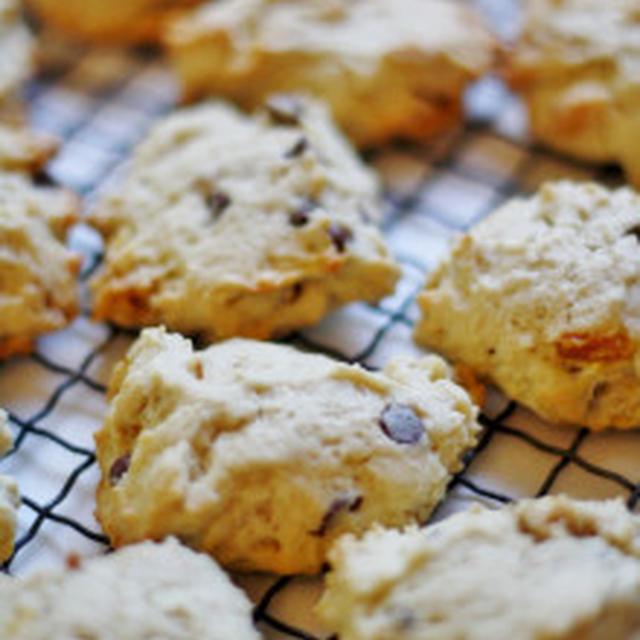 グラノーラとチョコチップのロッククッキー