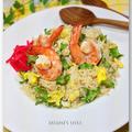 四角豆と海老のオイスターナンプラー炒飯