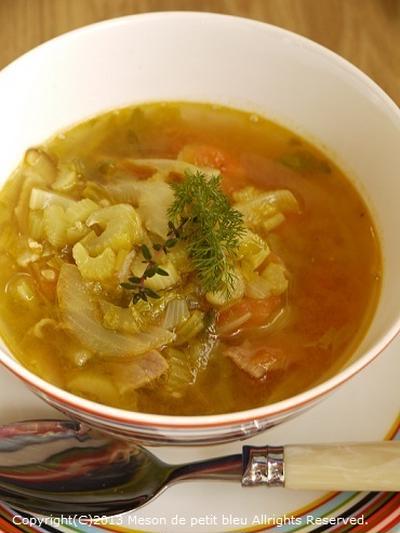 夏ダイエット☆カレー味具だくさんスープ