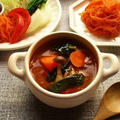 トムヤムクン風の野菜たっぷりスープ