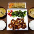 【家ごはん】 玉ねぎの肉巻き と フキと厚揚げの煮物