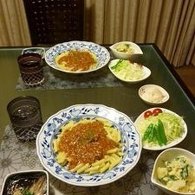 夕飯(ミートソース;ペンネ)