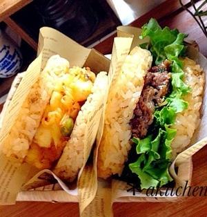 ランチに♪お弁当に♪残りご飯OK☆ライスバーガー