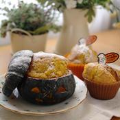 ジャック・オ・ランタンのケーキとかぼちゃのカップケーキ