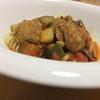 いわし団子とフジッリ入りのお野菜たっぷりのトマト煮