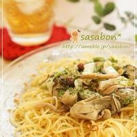 牡蠣と白菜のぺペロンチーニ
