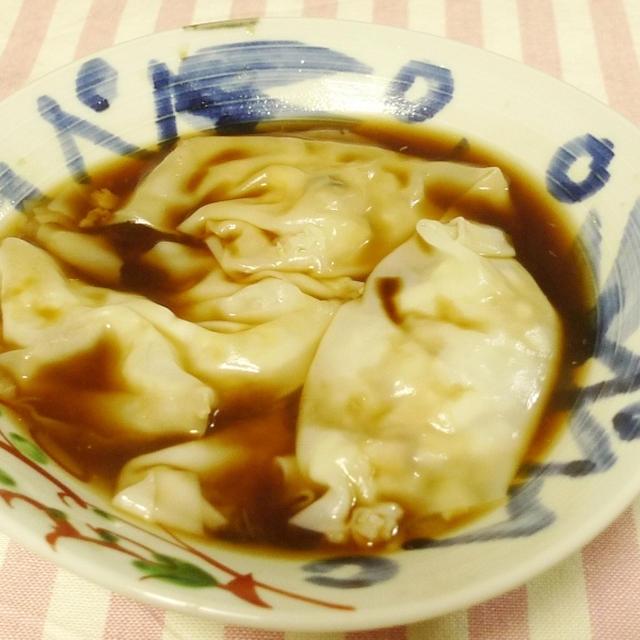 えびワンタンの黒酢スープ