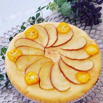 りんごのタルト風パンケーキ