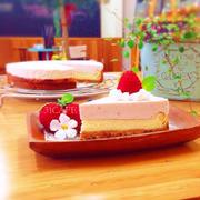 ♡ベイクド&レア♡春のWチーズケーキ♡苺♡