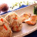 秋の行楽弁当にも!きのこたっぷり♪混ぜご飯&秋鮭のマヨマスタード焼き by いずみさん