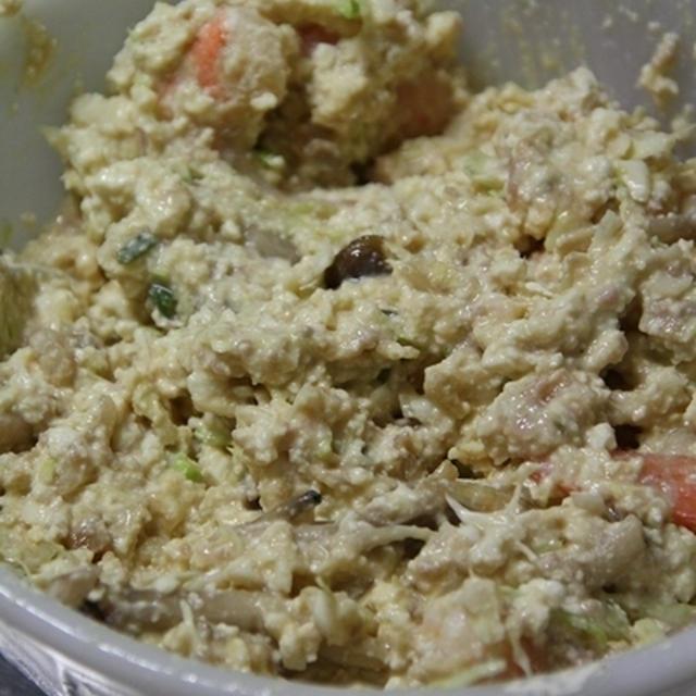 【糖質制限】豆腐&大豆粉でつくるチーズお好み焼き