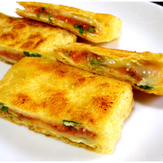 モンテ考察「明太チーズのキツネ焼き」