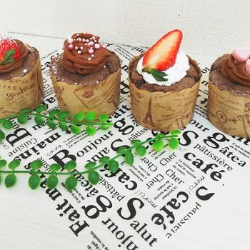 チョコカスタード入り❤しっとりミニシフォン【ホットケーキミックス*ココア味】