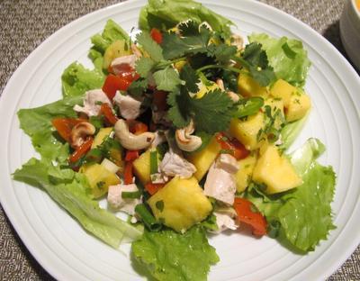 鶏肉とパイナップルのベトナム風サラダ