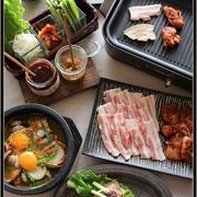 サムギョプサルと、プルダック!で、焼き焼き韓国料理♪