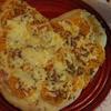 2種のチーズとハム*みかんのハート型ピザ