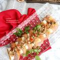 クリスマスオードブルに<合鴨スモークと焼きねぎのラビゴットソース>