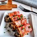 【簡単レシピ】きのこのバタポンベーコン巻き#おつまみ#お弁当おかず#食材2つ