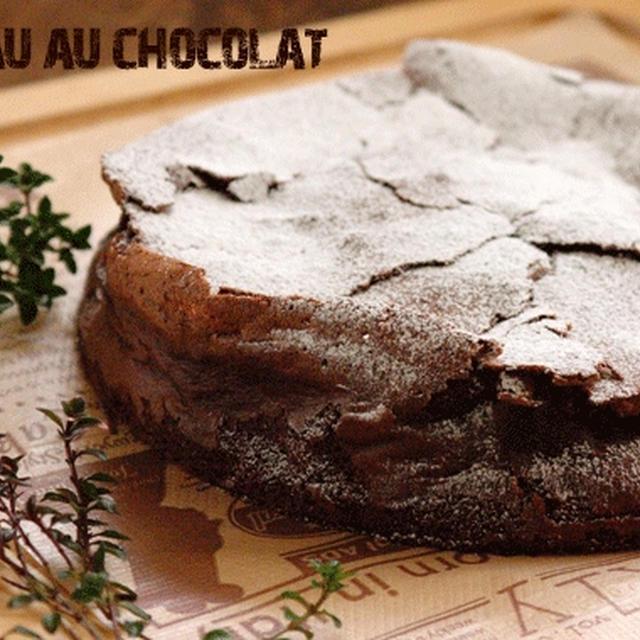 冷やしても固くならない。きび糖とオリーブオイルで作る、ふんわりガトーショコラ。