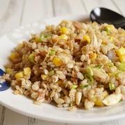 【簡単!】麦ご飯の和風チャーハン