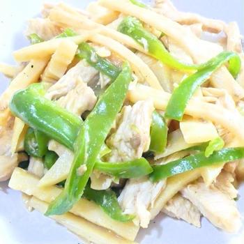 鶏胸肉の青椒肉絲 レシピ・作り方