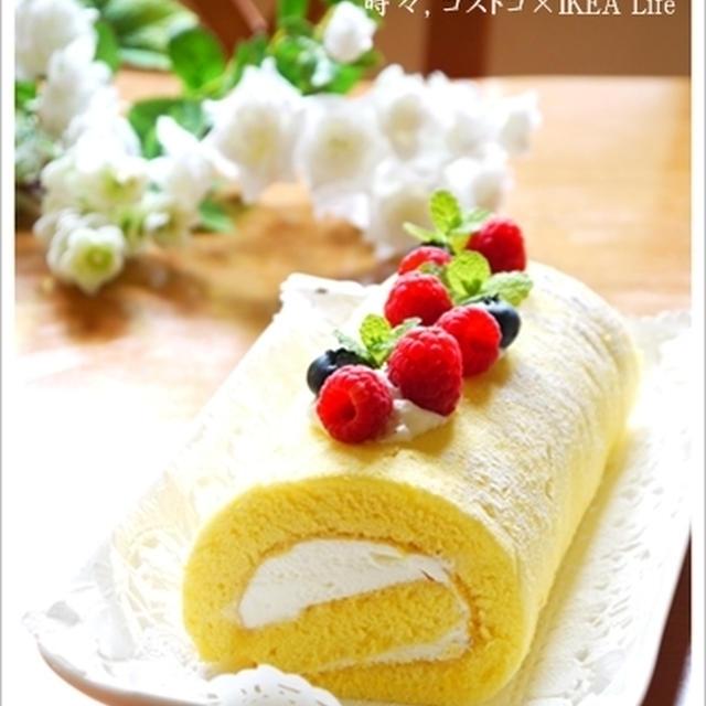 ブログ2周年記念deラズベリー×ブルーベリーロールケーキ♪