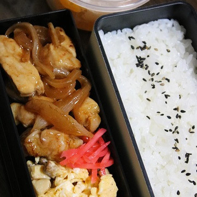 6月22日  豚肉と玉葱の炒めもの弁当
