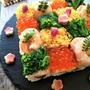 牛乳パックで作るモザイクちらし寿司