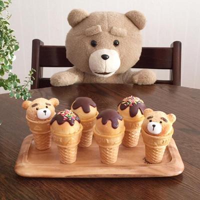 スライス生チョコdeアイス風カップパン♡
