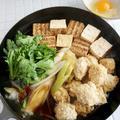 鶏れんこん団子と春菊のすき焼き風*忘年会