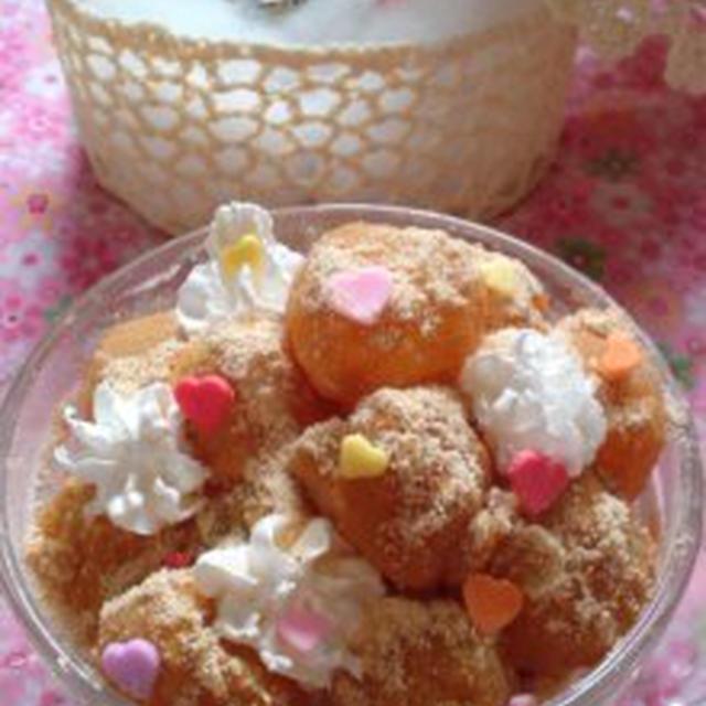 藁(わら)婚式に?電子レンジで簡単☆片栗粉でわらびもちのレシピ♪