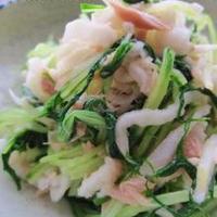 水菜と切り干し大根の、ツナ塩麹出汁和え。