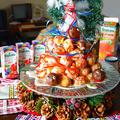 トロピカーナで子どもおうちバル会 ちびくろさんぼのクリスマスケーキピンチョス   ~ 瑞雲社みほ子さんのお題より ~ 絵本の世界を食べちゃおう  by 青山 金魚さん