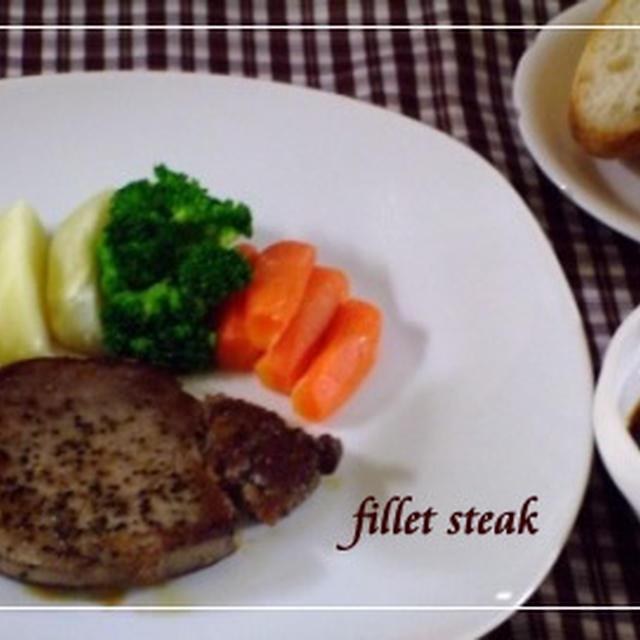 いい肉の日☆お手製ソースdeヒレステーキ