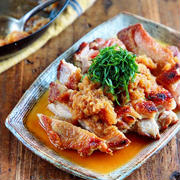 ♡おろしだれde皮パリチキンステーキ♡【#鶏肉#大根#さっぱり#簡単レシピ#節約】