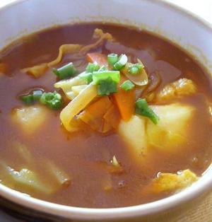 おもちがとろ~りのあつあつ和風カレースープ
