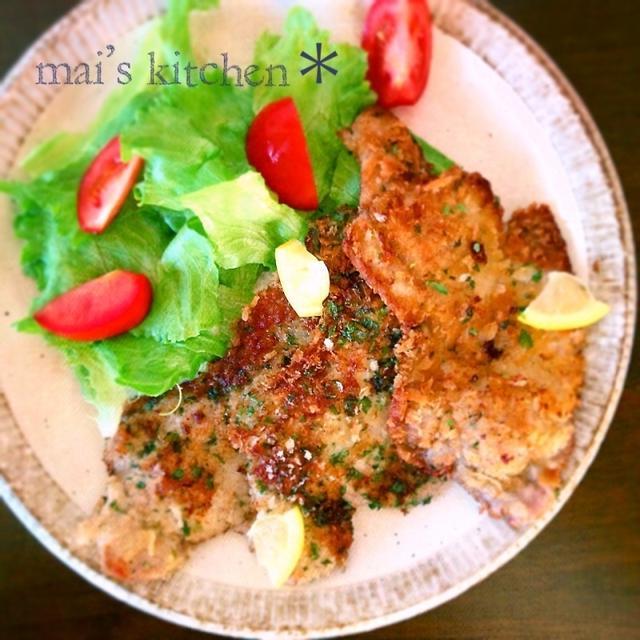 豚のシソバターパン粉焼き♡簡単スピードレシピ♡